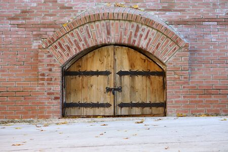 Heavy wooden gates  photo