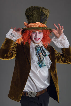 Funny crazy hatter from wanderland character