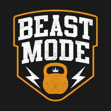 The Beast Mode Design, Illustration Sport Edition avec Kettlebell