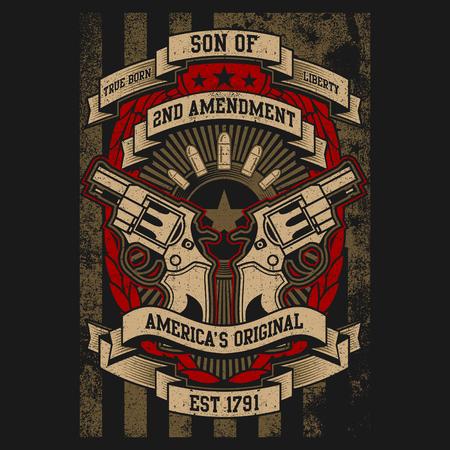 2Nd Amendment With Pistols, American Constitution 版權商用圖片 - 115926424