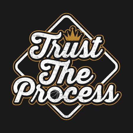 Typography Design With Quote Trust The Process Ilustracja