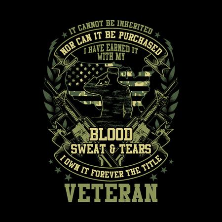 Veteran - Blood Sweat And Tears - Green Camo