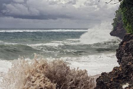 stormy waters: Storm, ocean and rocks