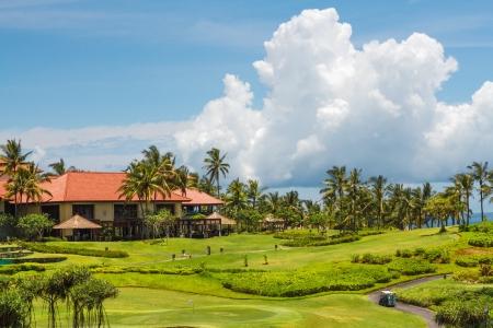 호텔 및 골프 필드 에디토리얼