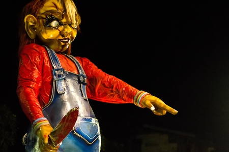 chucky: Chucky doll figure at the ceremony Ogoh-Ogoh, Bali, Indonesia Editorial