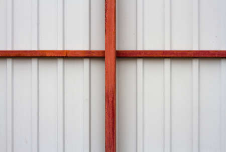 channeled: The texture of the fence with beams in high resolution