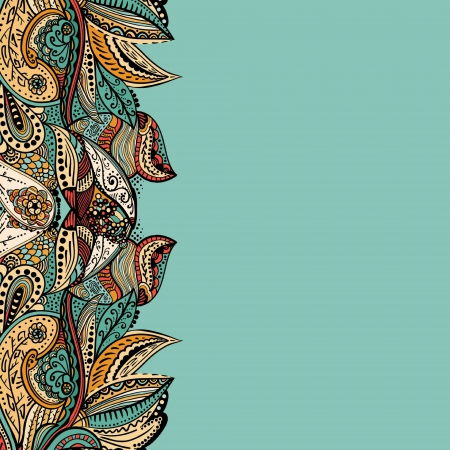 Stylish  vintage floral pattern against a uniform background Illustration
