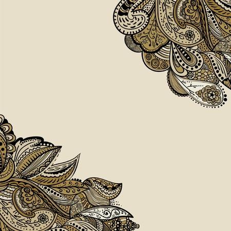 Stylish  vintage floral pattern against a uniform background Vector
