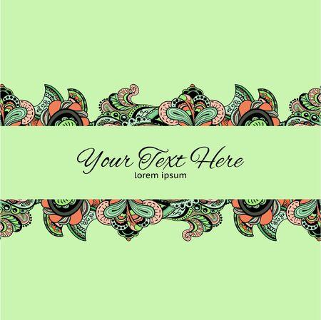Stylish vector vintage floral pattern against a uniform background Vector