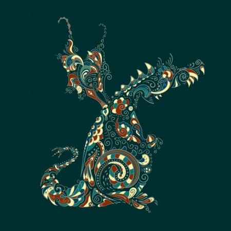 Ornate dragon Stock Vector - 20237710
