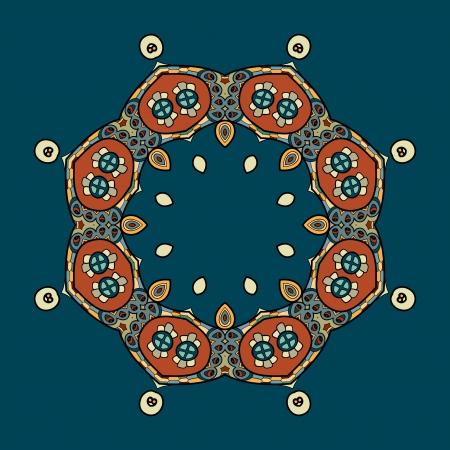 Circular ornament design Vector