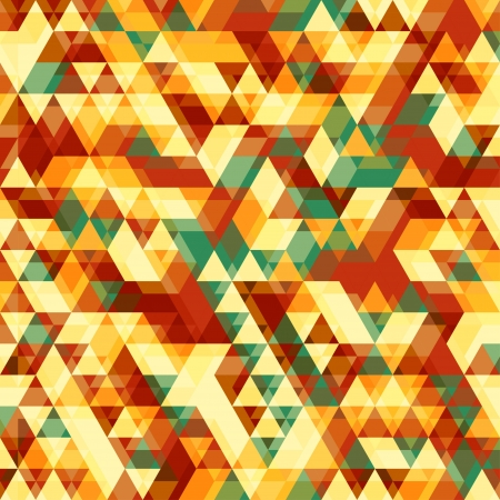 Retro abstract pattern with triangles can be used as wallpaper or greeting card, site background and other Vector