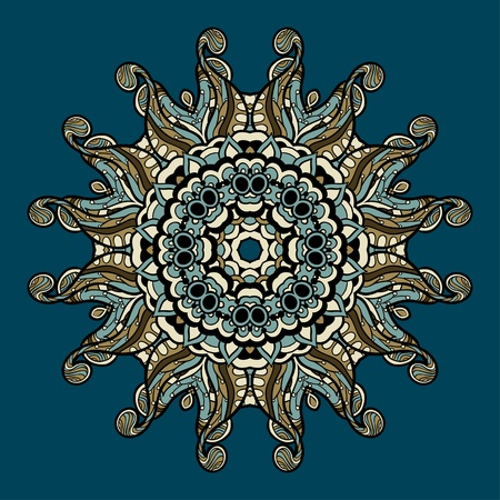 Ornamental round lace can be used for wallpaper, pattern fills, web page background,surface textures. Vector