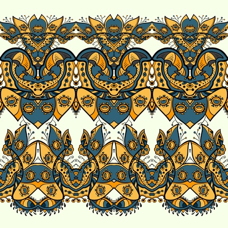 Ethnic seamless pattern. Indian ornament. African abstract seamless pattern Vector