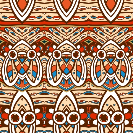 Seamless ethnic aztec illustration decorative background pattern in vector