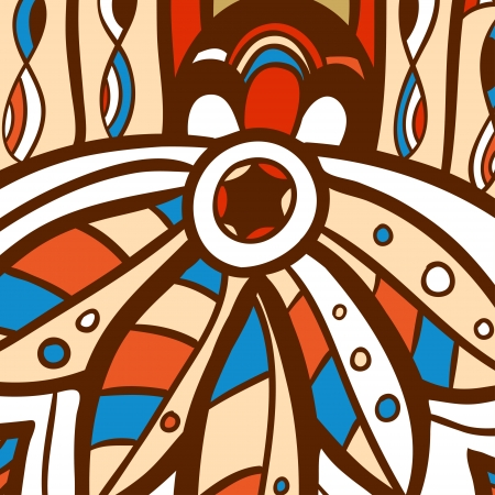 haida indian: Native American Style Vector can be used for wallpaper, pattern fills, web page background, surface textures
