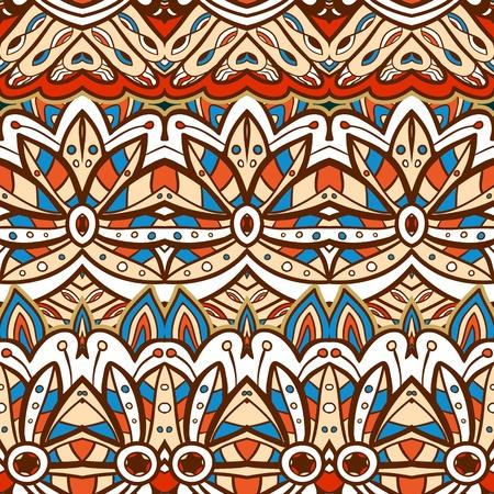 ethic: Senza soluzione di continuit� etnica aztec illustrazione motivo decorativo in background vector