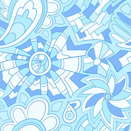 Seamless abstract hand-drawn waves pattern, wavy background  Seamless pattern can be used for wallpaper, pattern fills, web page background,surface textures  Vector