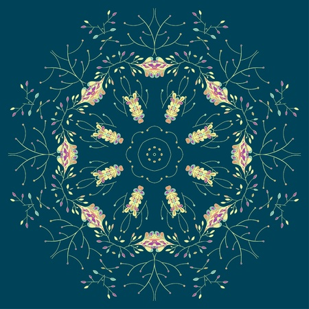 Ornamental lace pattern, circle background with many details  Can be used for wallpaper, pattern fills, web page background, surface textures  Vector