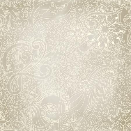 disegno cachemire: Seamless vintage ornamento pu� essere utilizzato per la carta da parati, riempimenti a motivo, pagina web, texture di superficie. Vettoriali