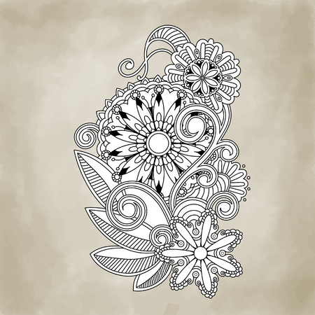 Abstract vector floral and ornamental item   Vector