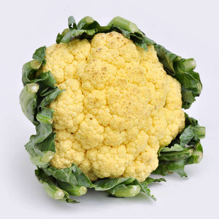 wonders: cauliflower healthy food on white background, wonders of the vegetable Stock Photo
