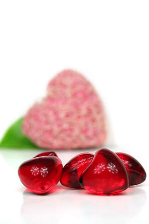 yearning: some hearts against white background - valentine ´s day Stock Photo