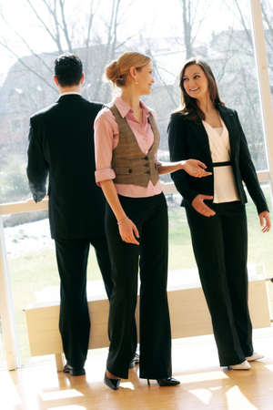 three young successful and smiling businesspeople Stock Photo - 5064701