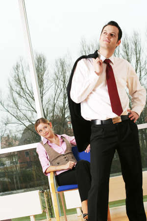 flirting business colleagues photo