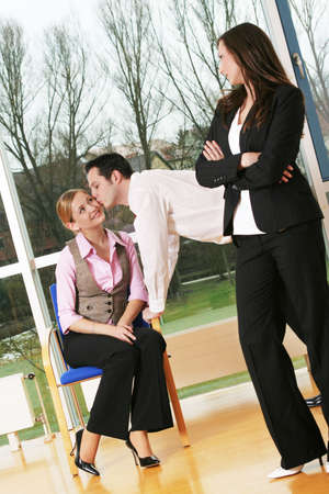 business team in a office