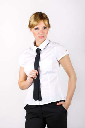 chiefly: Portrait of a young successful business woman Stock Photo