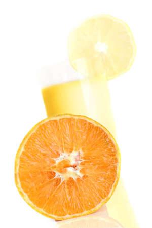 Orange Juice and an orange isolated on white background Stock Photo - 5084474