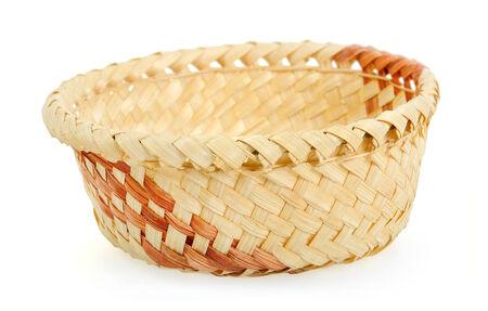 Isolated basket on white background photo