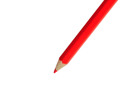 Isolated red pencil on white background