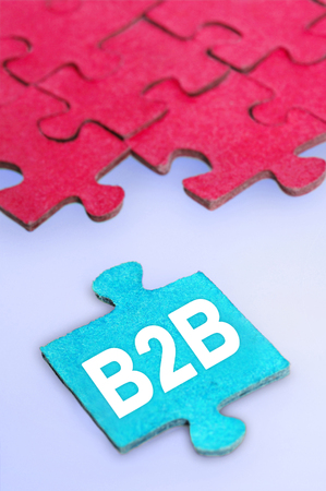 Puzzle with B2B word piece photo