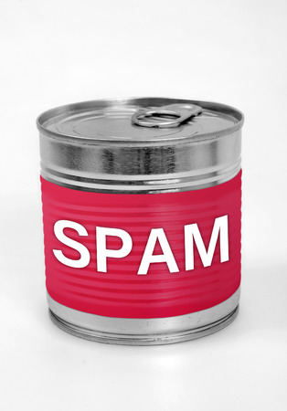 unsolicited: Spam word on food can