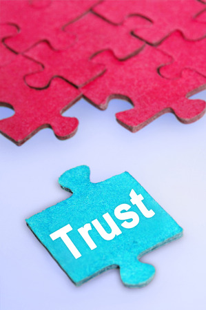 Puzzle with Trust word piece