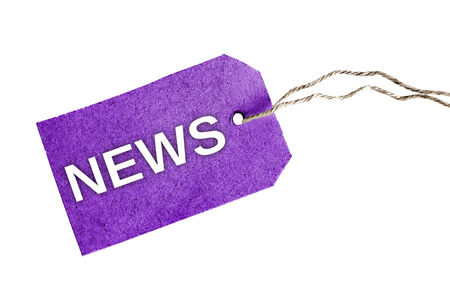 News word on violet tag