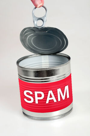 Spam word on food can