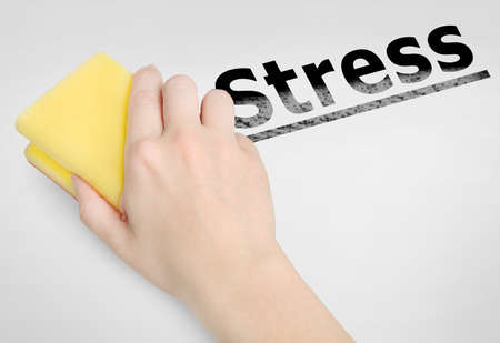 Cleaning stress word on background
