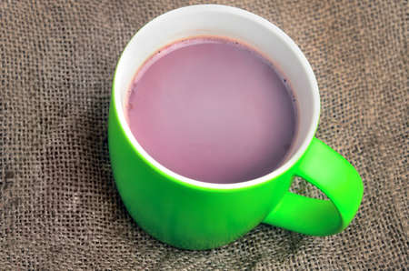 invigorate: Cup of hot chocolate on table Stock Photo