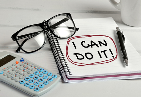 I can do it word on notebook Stock Photo