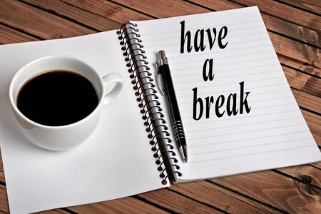 Have a break word on notebook