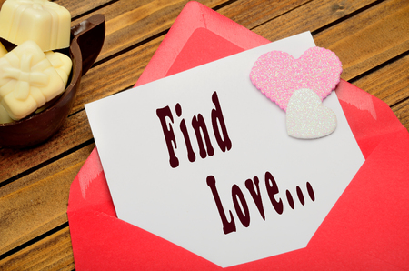 private domain: Find love words on white paper