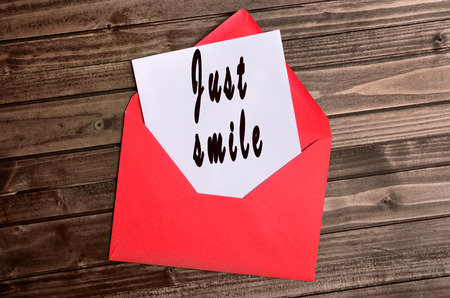 emotional love: Just smile words on paper