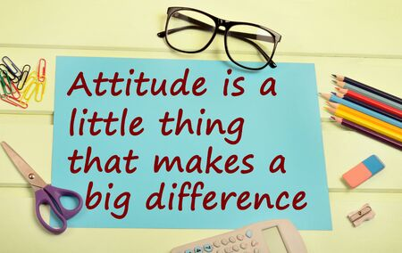 Text Attitude is a little thing that you makes a big difference on paper Archivio Fotografico