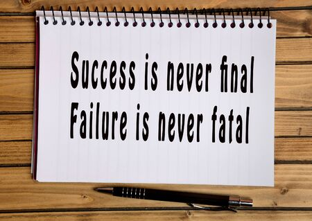 fatal: Text Success is never final Failure is never fatal on notebook