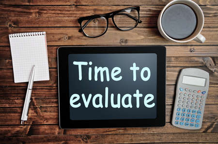 recap: The words Time to evaluate on tablet pc