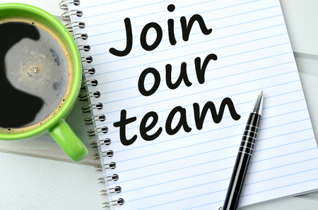 our: Join our team on notebook page