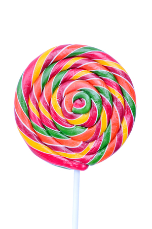 Isolated lollipop on white background